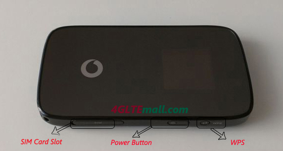 Vodafone R210 4G LTE Mobile WiFi Hotspot buttons (also named HUAWEI E589
