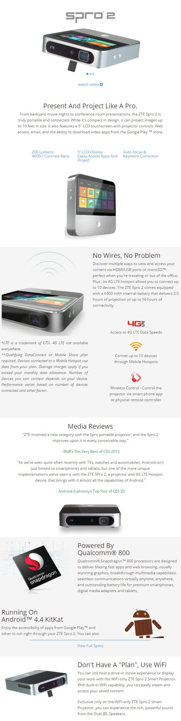 zte spro 2 specs Creation agency, Brochure