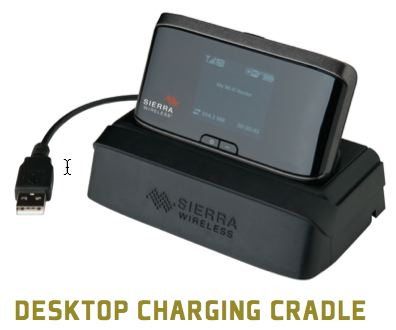 desktop charging cradle for SIERRA 762S