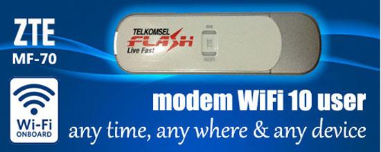 ZTE MF70 3G WiFi Modem Router
