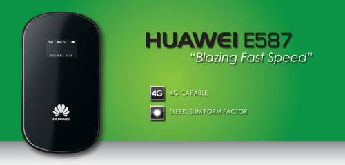 HUAWEI E587 DISPLAY