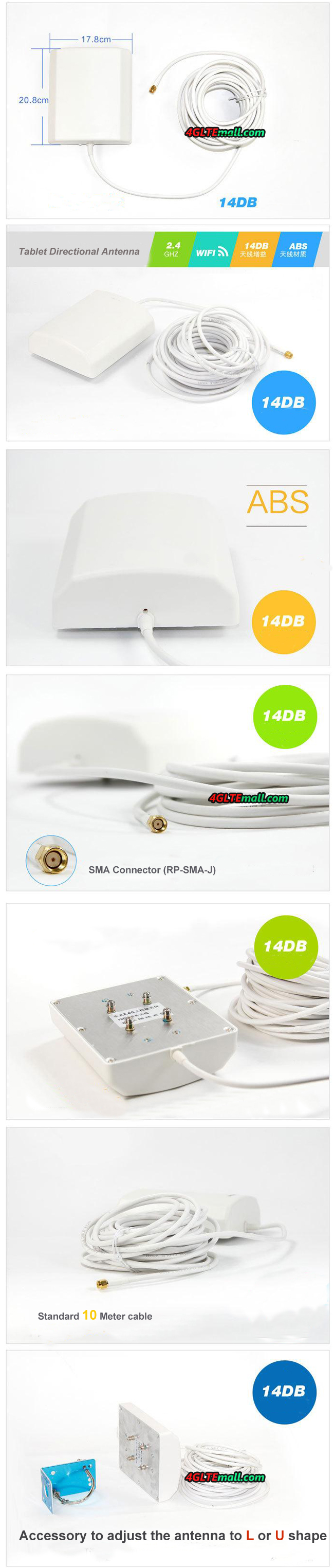2.4G 14DB Directional WiFi Booster Outdoor Antenna