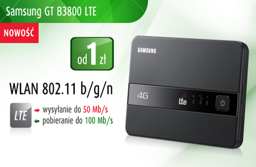 Samsung GT-B3800 LTE 4G Portable WiFi Router